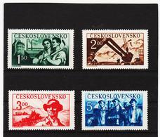 Post202 TSCHECHOSLOWAKEI CSSR 1950 MICHL 614/17 ** Postfrisch SIEHE ABBILDUNG - Tschechoslowakei/CSSR