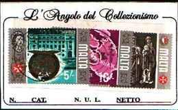 1542) MALTA SERIE ORDINARIA 5SC.+10SC+1£ -USATI - Malta