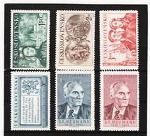 Post203 TSCHECHOSLOWAKEI CSSR 1950 MICHL 610/13 + 618/19 ** Postfrisch SIEHE ABBILDUNG - Tschechoslowakei/CSSR