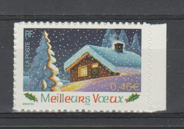FRANCE / 2002 / Y&T N° 3534 ** Ou AA 34 ** : Châlet/Voeux (adhésif) X 1 BdC - Adhesive Stamps