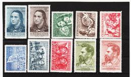 Post204 TSCHECHOSLOWAKEI CSSR 1950 MICHL 620/29 ** Postfrisch SIEHE ABBILDUNG - Tschechoslowakei/CSSR