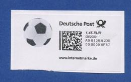 BRD Internetmarke Motiv Fussball, 1,45 €, 09/2009 - Unclassified