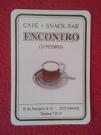 CALENDARIO DE BOLSILLO MANO PORTUGAL PORTUGUESE CALENDAR 1993 VINHAIS CAFÉ SNAK BAR ENCONTRO O PEDRO VER FOTO/S Y DESCRI - Calendars