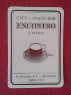 CALENDARIO DE BOLSILLO MANO PORTUGAL PORTUGUESE CALENDAR 1993 VINHAIS CAFÉ SNAK BAR ENCONTRO O PEDRO VER FOTO/S Y DESCRI - Calendarios