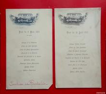 2 Menus Anciens - 1903 - Ilustration Maison Coloniale - Menus