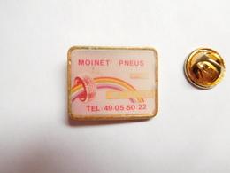 Beau Pin's , Auto , Moinet Pneus , Tyres ,  Saint Maixent L'Ecole , Deux Sévres , Arc En Ciel - Pin's