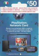 Network Card Italy PlayStation 2012_50 - Gift Cards