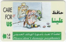 OMAN A-598 Magnetic Telecom - Cartoon, Communication, Phone Booth - 33OMNH - Used - Oman