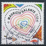 France - St-Valentin 2011 Maurizio Galante YT 4528 Obl. Cachet Rond - Oblitérés