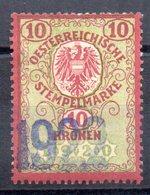 Sello  Fiscal Austria Matasello 1922 - Fiscaux