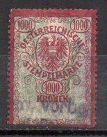 Sello  Fiscal Austria .1000 - Fiscales