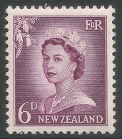 New Zealand. 1955-59 QEII. Large Value. 6d MH. SG 750 - New Zealand