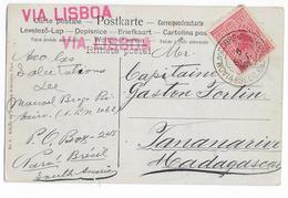 BRAZIL - 1906 - CARTE De PARA (BELEM) => TANANARIVE (MADAGASCAR) Via PORTUGAL - DESTINATION ! - Brésil