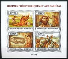 D - [33125]SUP//**/Mnh-c:18e-BURUNDI 2013 - Homme Préhistorique Et Art Pariétal - Préhistoire