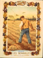 BELLE CHROMO & IMAGE - EAU DES CARMES BOYER IMP. HEROLD & Cie - Mars Les Semailles - BE - Old Paper