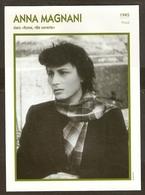 PORTRAIT DE STAR 1945 ITALIE ITALIA ITALY - ACTRICE ANNA MAGNANI - ACTRESS CINEMA - Fotos