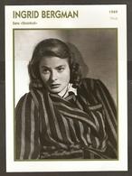 PORTRAIT DE STAR 1949 ITALIE ITALIA ITALY - ACTRICE INGRID BERGMAN STROMBOLI - ACTRESS CINEMA - Fotos