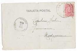 COLOMBIA - 1906 - CP De BOGOTA => TANANARIVE (MADAGASCAR) - DESTINATION ! - Colombia