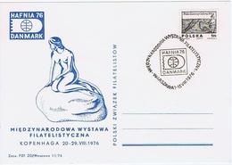 Poland 1976;  HAFNIA 1976 Stamp Exhibition Copenhagen Denmark - Little Mermaid - 1944-.... Republic