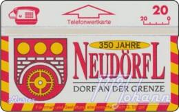 """TWK Österreich Privat: """"Neudörfl, 350 J. (Dorf A.d. Grenze)"""" Gebr. - Oesterreich"""