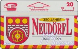 """TWK Österreich Privat: """"Neudörfl, 350 J. (1644-1994)"""" Gebr. - Oesterreich"""