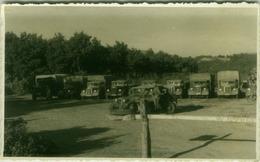ALBANIA - TIRANA - OCCUPAZIONE FASCISTA - CAMION E AUTO - BALILLA - RPPC POSTCARD 1941 (BG3354) - Albanië