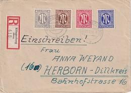 ALLEMAGNE ZONE ANGLO-AMERICAINE 1946 LETTRE RECOMMANDEE DE KLINGENBERG AVEC CACHET ARRIVEE HERBORN - Zone Anglo-Américaine