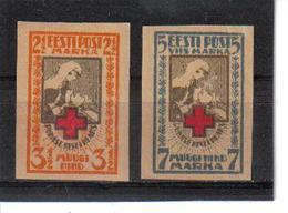 POL359 ESTLAND 1921 MICHL 29/30 B MINI GUMMIFEHLER (*) FALZ SIEHE ABBILDUNG - Estland