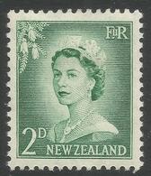 New Zealand. 1955-59 QEII. Large Value. 2d MH. SG 747 - New Zealand