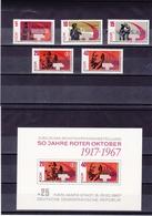 RDA 1967  REVOLUTION D'OCTOBRE Yvert 1009-1013 + BF 21 NEUF** MNH - DDR