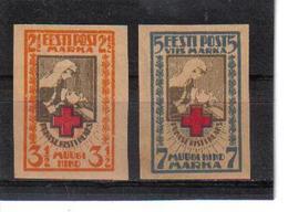 POL360 ESTLAND 1921 MICHL 29/30 B MINI GUMMIFEHLER (*) FALZ SIEHE ABBILDUNG - Estland