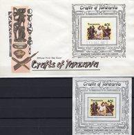 Holz-Schnitzer 1987 Tanzania Blocks 68 O/FDC 8€ Skulptur Kunst-Handwerk Hoja S/s Blocs Art Sheets Cover Bf Tanzanie - Jobs