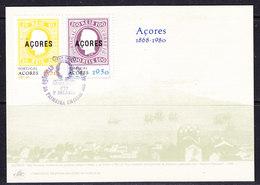 Azores 1980 Comm. 1st Issue 2v 1 Maximum Card (42740) - Azoren