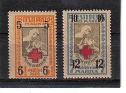 POL362 ESTLAND 1926 MICHL  60/61 MINI GUMMIFEHLER (*) FALZ SIEHE ABBILDUNG - Estland