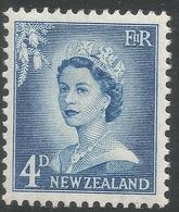 New Zealand. 1955-59 QEII. Large Value. 4d MH. SG 749 - New Zealand