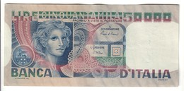 50000 Lire Volto Di Donna 11 04 1980  LOTTO 217 - [ 2] 1946-… : Repubblica