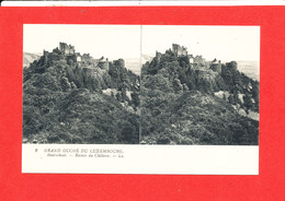 BOURSCHEID LUXEMBOURG  Cpa Stéréoscopique  Ruines Du Chateau  6LL - Cartes Postales