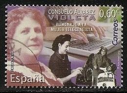2019-ED. 5313 SERIE COMPLETA - Consuelo Álvarez, Violeta. Homenaje A La Mujer Telegrafista-USADO - 1931-Oggi: 2. Rep. - ... Juan Carlos I