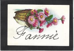 CPA Prénom Fanny Avec Paillettes En Relief Non Circulé - Firstnames