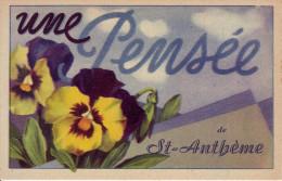 63 - PUY DE DÔME - St Anthème - Une Pensée De St Anthème - - Autres Communes