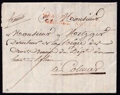 1807. POSEN TO FRANCE. ENTIÈRE LETTER. MARQUE Nº 40 PORT PAYÉ/GRANDE-ARMÉE IN RED. VERY RARE. - Marcofilia (sobres)