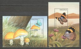 Angola 1998 Mi Blocks 40 + 42 MNH BUTTERFLIES - Butterflies