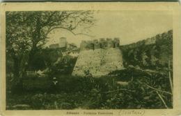 ALBANIA - Shkodër SCUTARI FORTEZZA VENEZIANA ANNULLO 30 GRUPPO OBICI PESANTI CAMPALI VERIFICATO PER CENSURA 1918 (BG3356 - Albania