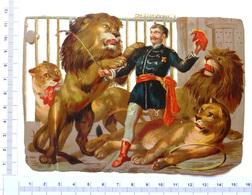 GRAND CHROMO DECOUPI......LIONS ET LEUR DOMPTEUR - Animals