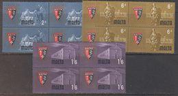 Malta 1964 European Catholic Doctors 3v Bl Of 4 ** Mnh (42743) - Malta