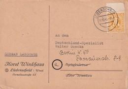 ALLEMAGNE ZONE ANGLO-AMERICAINE 1945 CARTE DE LÜDENSCHEID - Zone Anglo-Américaine
