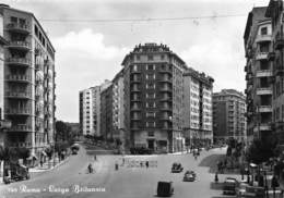 """M08082 """"ROMA-LARGO BRITANNIA""""ANIMATA-AUTO ANNI '40-CART. ORIG. SPED.1954 - Places & Squares"""