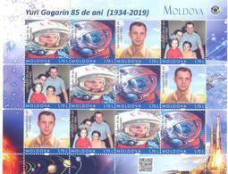 2019. Moldova, Space, 85th Birth Anniversary Of Y. Gagarin, Sheetlet Of 3 Sets, Mint/** - Raumfahrt