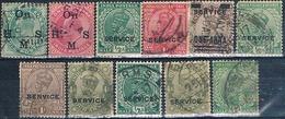 India 1902 / 35  -  Michel  37 / 38 + 52 / 3 + 73 + 76 / 77 + 79 + 89 + 92 + 101  ( Usados ) - 1947-49 Dominio Británico
