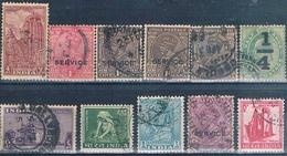 India 1905 / 67  -  Michel  53 + 69 + 90 + 194 + 198 + 199 + 393 + 435  ( Usados ) - 1947-49 Dominio Británico